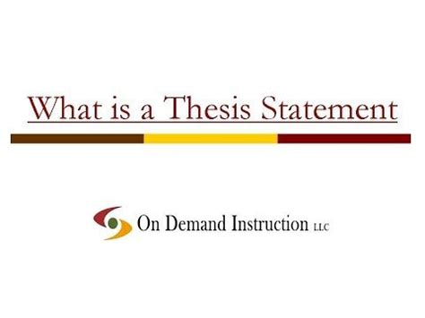 Do thesis statement